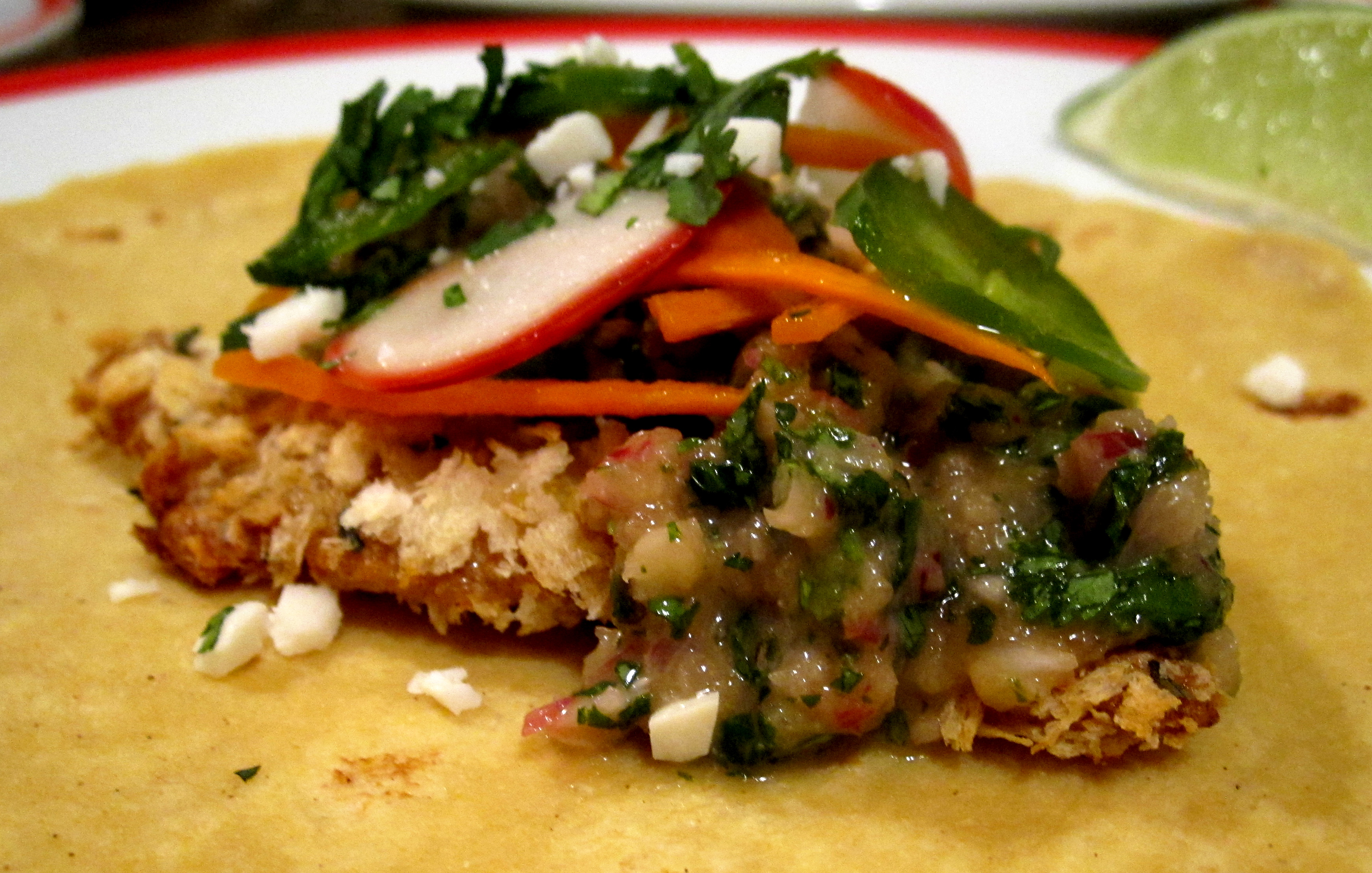 Top recipe fish tacos with serrano chile sauce recipe for Fish taco recipe sauce